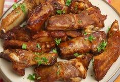Nervures de porc de BBQ Photo stock