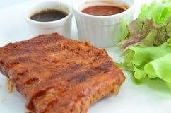 Nervures de porc de BBQ image libre de droits