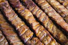 Nervures de porc de BBQ Photos stock