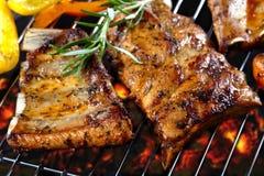 Nervures de porc grillées Photographie stock libre de droits