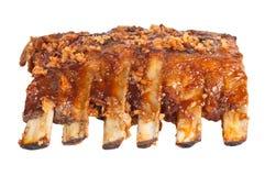 Nervures de porc grillées tout entier Photo libre de droits