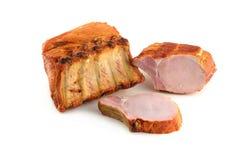 Nervures de porc sur un fond blanc image stock