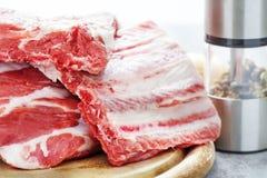 Nervures, nervures de porc Photo stock