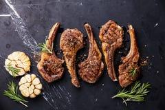 Nervures rôties d'agneau Image stock
