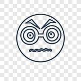 Nerwowego pojęcia wektorowa liniowa ikona odizolowywająca na przejrzystym backg ilustracja wektor