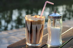 Nes coffee and sugar Royalty Free Stock Images