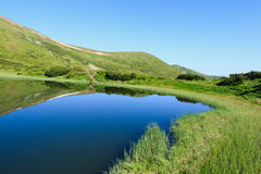 Nesamovyte Lake in Carpathians Stock Image