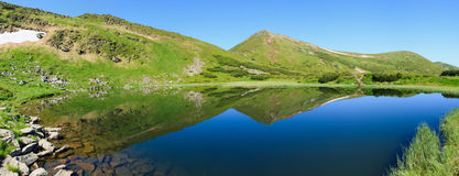 Nesamovyte Lake in Carpathians Royalty Free Stock Image