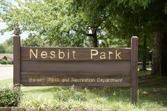 Nesbit Park, Memphis Tennessee Royalty Free Stock Photo