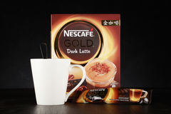 Nescafe gold drink product shot Royalty Free Stock Photography