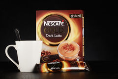 Nescafe gold drink product shot Stock Photos