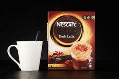 Nescafe gold drink product shot Stock Images