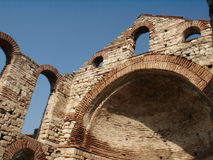 Nesebar, Bulgaria. Nesebar ruins of church, Bulgaria royalty free stock image