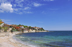 Nesebar, Bulgaria. Overview of the shore resort town Nesebar in Bulgaria royalty free stock image