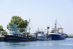 Trawlers in Nessebar Port Stock Image