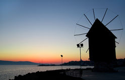 Nesebar Mill - sunrise Royalty Free Stock Photo