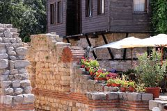 In Nesebar near the Church of Saint Sophia Royalty Free Stock Photo