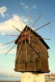 Nesebar windmill Royalty Free Stock Image