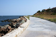 Nesebr. Quay panorama in Nesebre (Bulgaria Stock Photo