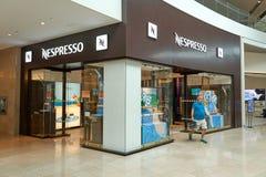 Nespresso boutique and logo stock photo