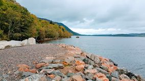 Ness Lake. At fall & x28;monster not included& x29 Royalty Free Stock Image
