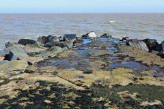 Ness Point, Lowestoft, Suffolk, Inghilterra, Regno Unito fotografie stock libere da diritti