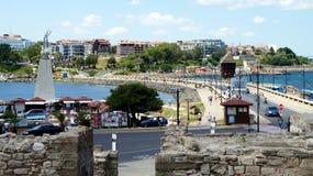 Nessebar побережье Болгарии, Чёрного моря Стоковые Фото