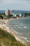 Nessebar beach. The beach near the town of Nessebar - Bulgaria Stock Images