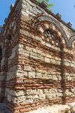 Ruins of Ancient Church of the Holy Archangels Michael and Gabriel in the town of Nessebar, Royalty Free Stock Images