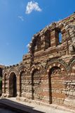 Ruins of Ancient Church of the Holy Archangels Michael and Gabriel in the town of Nessebar, Royalty Free Stock Photos