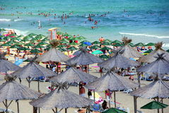 Nessebar Bulgaria beach in the new part of the town. Black sea coast Royalty Free Stock Image