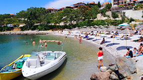Nessebar Bulgaria beach in the old town Royalty Free Stock Image