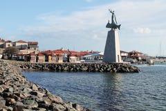Nessebar, Bulgaria, February 2016. Monument St. Nicholas. Illust Royalty Free Stock Photography