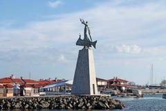 Nessebar, Bulgaria, February 2016. Monument St. Nicholas. Illust Royalty Free Stock Photo