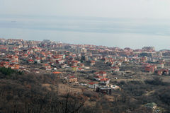 Nessebar, Bulgaria, February 2016. Panoramic view from the top. Stock Photos