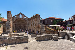 NESSEBAR, BULGARIA - 30 JULY 2014: Ancient Church of Saint Sofia in the town of Nessebar, Bulgaria Royalty Free Stock Photo