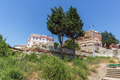 NESSEBAR, BULGARIA - 30 LUGLIO 2014: Chiesa della st John Aliturgetos in vecchia città di Nessebar, Bulgaria Immagine Stock