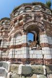 NESSEBAR, BULGARIA - 30 LUGLIO 2014: Chiesa della st John Aliturgetos in vecchia città di Nessebar, Bulgaria Fotografia Stock
