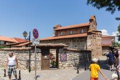 NESSEBAR, BULGARIA - 30 LUGLIO 2014: Chiesa di Santo Stefano in vecchia città di Nessebar, Bulgaria Fotografia Stock Libera da Diritti