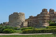 NESSEBAR, BULGARIA - 30 LUGLIO 2014: Rovine antiche nella città di Nessebar, Bulgaria Fotografie Stock Libere da Diritti