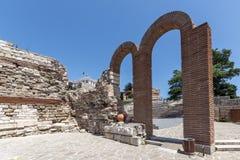 NESSEBAR, BULGARIA - 30 LUGLIO 2014: Teatro antico in vecchia città di Nessebar, Bulgaria Fotografia Stock