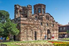 NESSEBAR, BULGARIE - 30 JUILLET 2014 : Église du Christ Pantocrator dans la ville de Nessebar, Bulgarie Images libres de droits