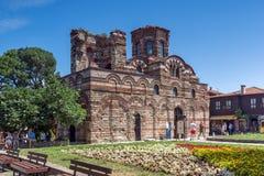 NESSEBAR, BULGARIE - 30 JUILLET 2014 : Église du Christ Pantocrator dans la ville de Nessebar, Bulgarie Photographie stock libre de droits
