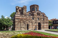 NESSEBAR, BULGARIE - 30 JUILLET 2014 : Église du Christ Pantocrator dans la ville de Nessebar, Bulgarie Photos libres de droits