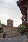 NESSEBAR BULGARIEN, JUNY 20, 2016: religiösa byggnader av den olika faithsstaden av Nessebar Royaltyfri Fotografi