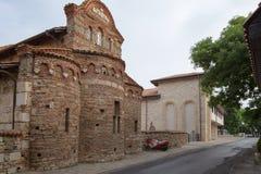 NESSEBAR BULGARIEN, JUNY 20, 2016: religiösa byggnader av den olika faithsstaden av Nessebar Arkivbilder