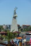 NESSEBAR, BULGARIJE - 30 JULI 2014: Haven van stad van Nessebar, Bulgarije Stock Afbeeldingen