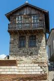 NESSEBAR, BULGARIJE - 30 JULI 2014: Steet in oude stad van Nessebar, Bulgarije Royalty-vrije Stock Afbeelding