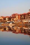 Nessebar, città antica sulla costa di Mar Nero della Bulgaria Fotografia Stock