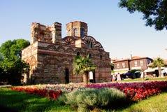 Nessebar de kustkerk van Bulgarije, de Zwarte Zee van Christus Pantokrator Stock Fotografie